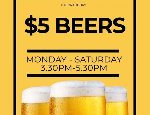 $5 Tap Beers